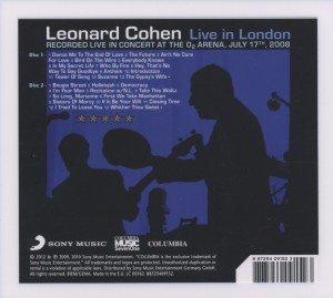 Cohen, L: Live in London/2 CDs