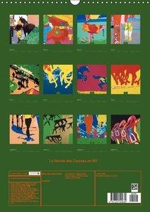 Le Monde des Courses en BD (Calendrier mural 2015 DIN A3 vertica