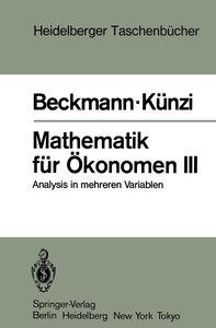 Mathematik für Ökonomen III