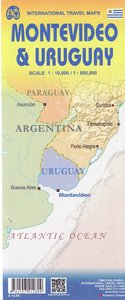 Uruguay, Montevideo Travel Reference Map 1 : 800 000 / 1 : 10 00