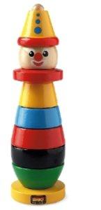 Brio 301205 - Clown, Stapel-Turm aus Holz, 9 Teile