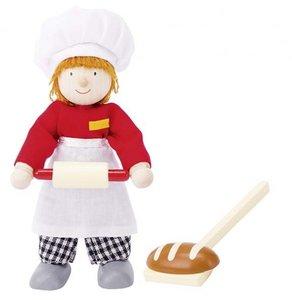 Goki 51608 - Biegepuppe Bäcker aus Holz
