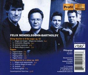 Streichquartette op.12+op.44/2