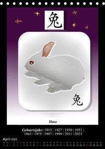 Stanzer, E: Chinesisches Horoskop (Tischkalender 2015 DIN A5