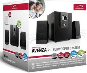 Speedlink AVENZA 2.1 Subwoofer System, Lautsprechersystem, schwa