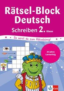 Rätsel-Block Deutsch. Schreiben 2. Klasse