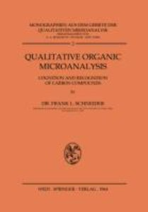 Qualitative Organic Microanalysis