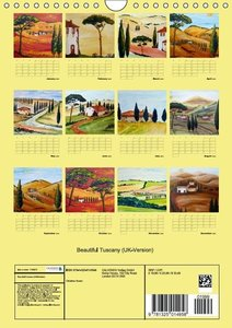 Beautiful Tuscany (UK-Version) (Wall Calendar 2015 DIN A4 Portra