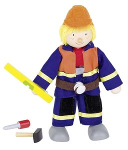 Goki 51630 - Biegepuppe Bauarbeiter I