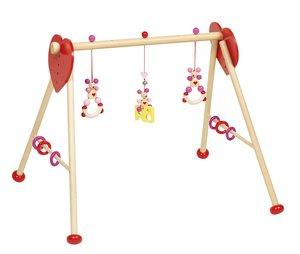 Goki Baby-Fit Maus (rosa), Greif- und Spieltrainer, Holz