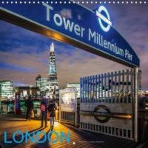 Dynamic LONDON (Wall Calendar 2015 300 × 300 mm Square)