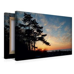 Premium Textil-Leinwand 45 cm x 30 cm quer Sonnenuntergang im Fr