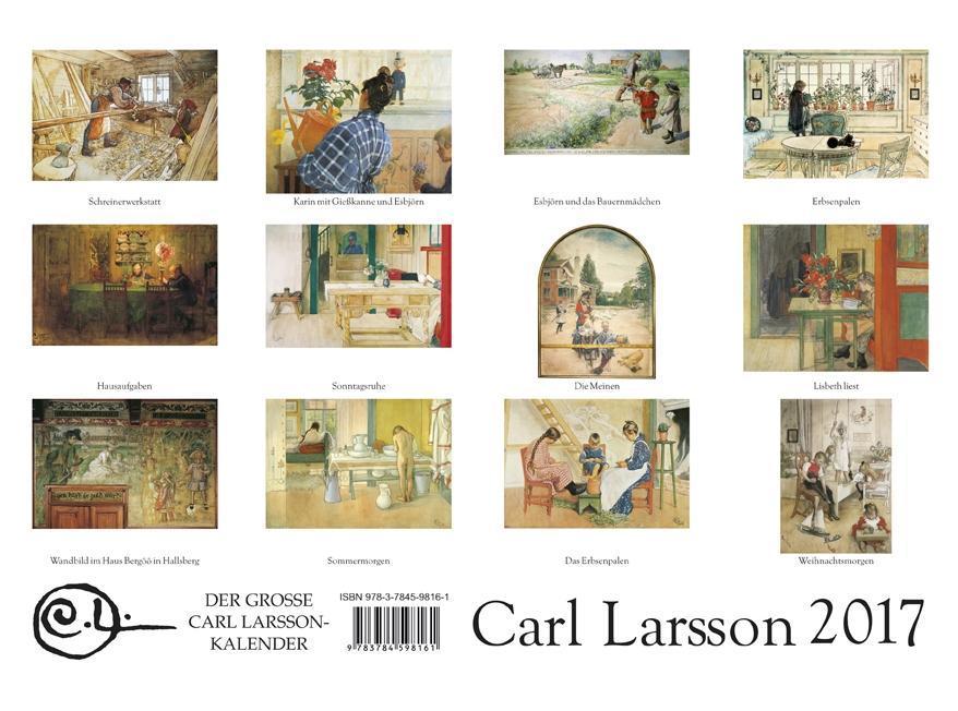 Der Große Carl Larsson-Kalender 2017 [118102831] - 16,95 € - www ...