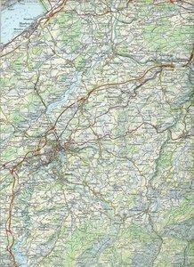 Swisstopo 1 : 100 000 Saane / Sarine