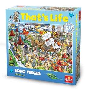 Goliath 71312006 - Thats Life Wimmel Puzzle Freizeitpark, 1000 T