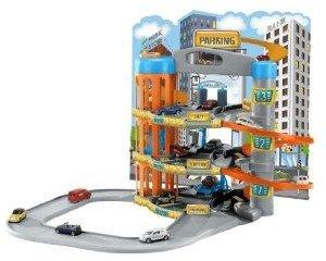 Dickie 212058191 - Parkgarage mit 3 Etagen und 5 Autos