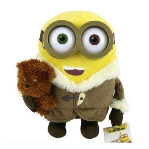 Minions - Bob mit Mantel und mit Bär 28 cm Plüsch