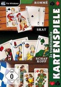 3x traditionelle Kartenspiele - Rommè - Skat - Schafkopf
