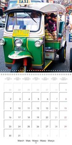 Around the world by taxi (Wall Calendar 2015 300 × 300 mm Square
