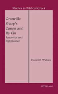 Granville Sharp's Canon and Its Kin