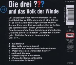 Die drei ??? 041 und das Volk der Winde. (drei Fragezeichen). CD