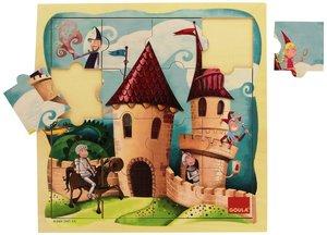 Goula Holzpuzzle Schloss 16-teilig