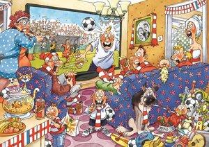 Wasgij Original 21 - 2in1 Fußball-Fieber - 2 x 1000 Teile