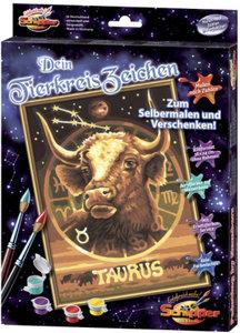 Schipper 609390673 - Malen nach Zahlen - Tierkreiszeichen Stier,