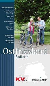 Ostfrieslandtouren Radkarte 1 : 100.000