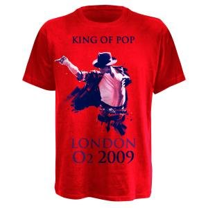 KING OF POP,T-SHIRT,GRÖßE S,ROT