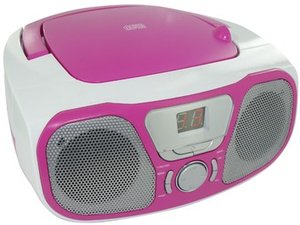 Tragbares CD/Radio CD46 - weiss/rosa