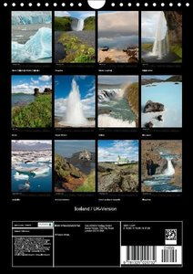 Iceland / UK-Version (Wall Calendar 2015 DIN A4 Portrait)