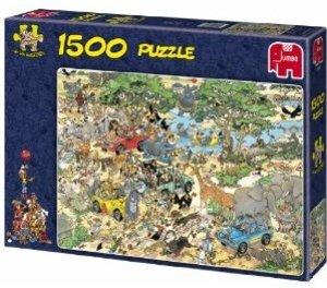 Jumbo Spiele 17016 - Safari, 1500 Teile Puzzle