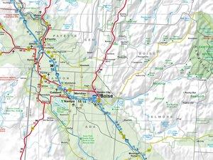 Montana / Idaho / Wyoming 1 : 975 000. Straßenkarte