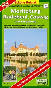 Moritzburg, Radebeul, Coswig und Umgebung 1 : 20 000. Radwander-