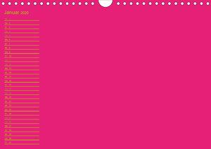 Bastel-Geburtstagskalender pink / Geburtstagskalender