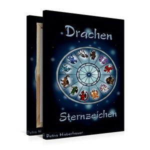 Premium Textil-Leinwand 50 cm x 75 cm hoch Drachen-Sternzeichen