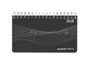 Mini-Querkalender 2018 PP schwarz