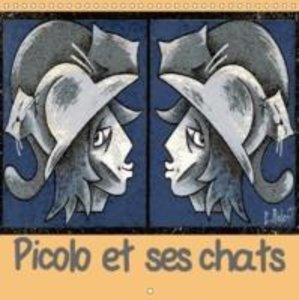 Picolo et ses chats (Calendrier mural 2015 300 × 300 mm Square)