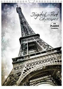 DIGITAL-ART Cityscapes (Wandkalender 2019 DIN A4 hoch)