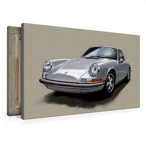 Premium Textil-Leinwand 75 cm x 50 cm quer Porsche 911 Targa