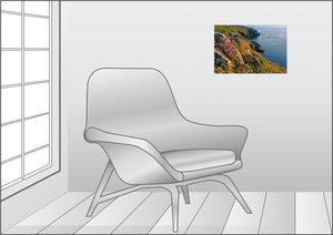 Premium Textil-Leinwand 45 cm x 30 cm quer Blumenküste Mullion,