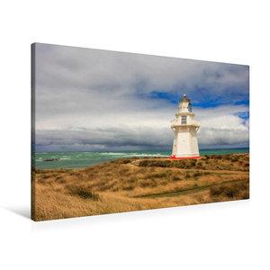 Premium Textil-Leinwand 90 cm x 60 cm quer Waipapa Point Lightho