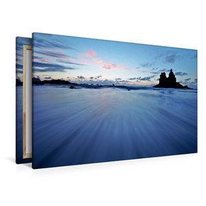 Premium Textil-Leinwand 120 cm x 80 cm quer Playa de Benijo