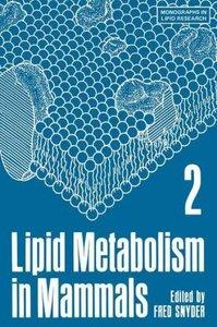 Lipid Metabolism in Mammals