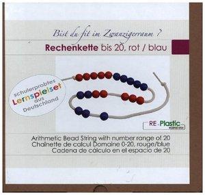 Rechenkette 20er Zahlenraum, rot/blau aus RE-Plastic°