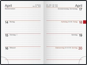 Taschenkalender Partner 2016 Prestige