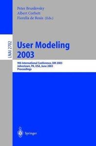 User Modeling 2003
