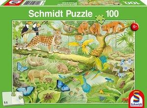 Tiere im Regenwald (Kinderpuzzle)