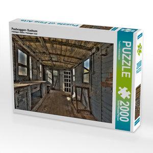 Postwaggon- Sachsen 2000 Teile Puzzle quer
